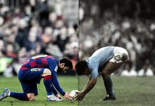 Messi nello stadio di Maradona